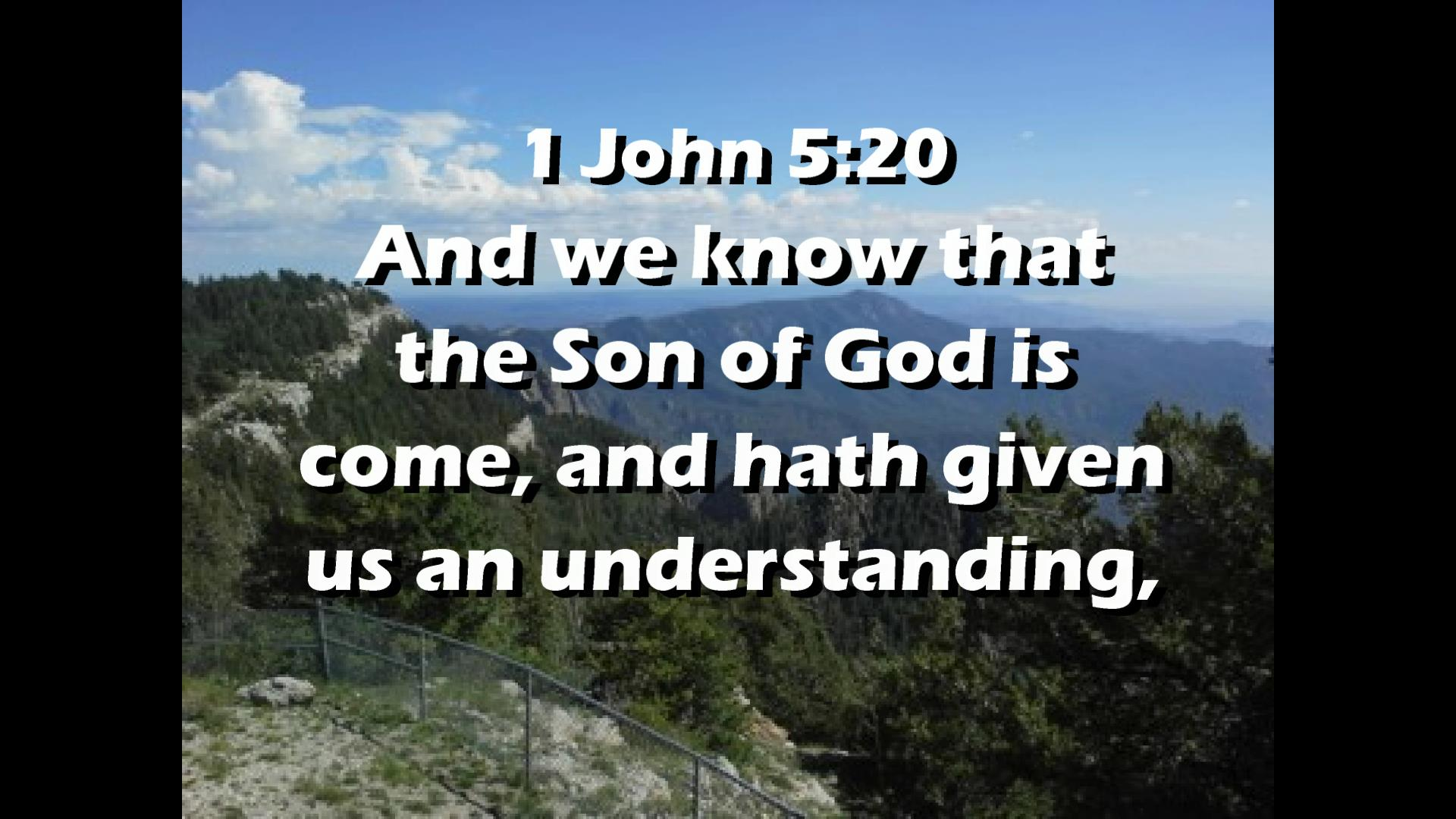 Video Bible Verse 1 John 5:20 – Christianity Every Day